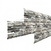 Сайдинг  металлический Lбрус-15х240 Белый Камень глянцевый